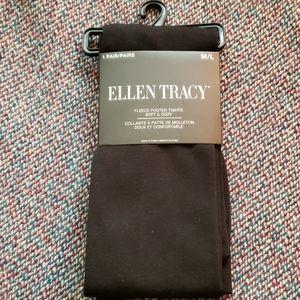 Ellen Tracy Black Fleece Lined Tights